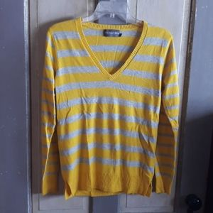 Michael Stars Wool Blend Striped Pullover Sweater